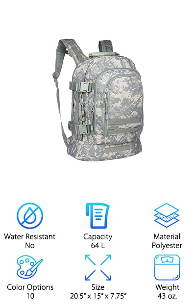 ARMYCAMOUSA Military Backpack