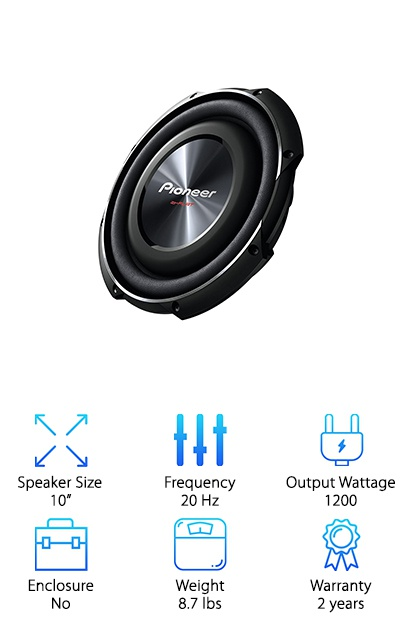 PIONEER TS-SW2502S4 10-Inch