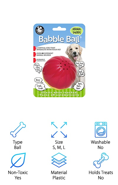 Pet Qwerks Babble Ball