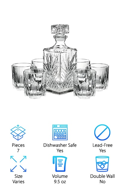 Paksh Novelty Whisky Glasses Set