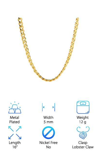 Lifetime Jewelry Gold Cuban Link