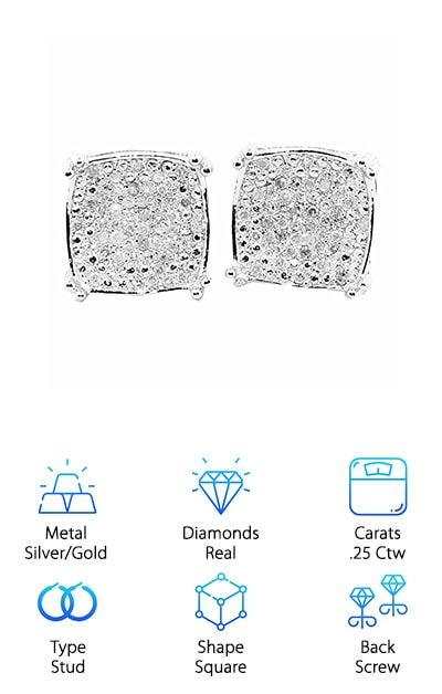 Midwest Jewelry Diamond Earrings