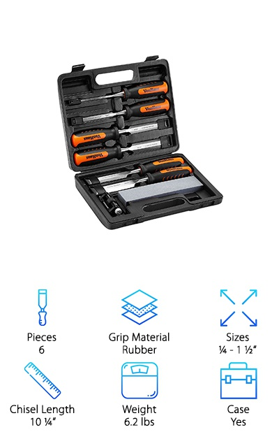VonHaus Wood Chisel Set