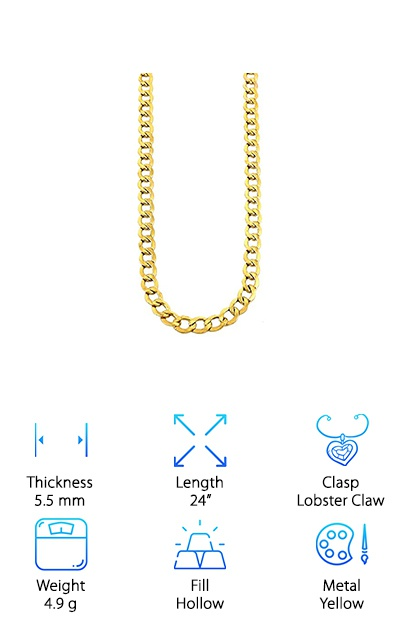 10K Gold Hollow Chain