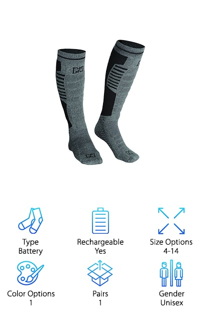Mobile Warming Electric Socks