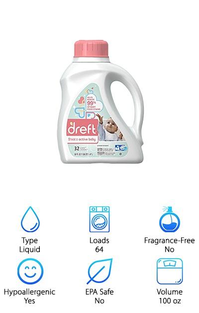 Dreft Stage 2: Hypoallergenic Detergent