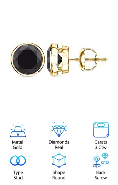 There are so many killer items on this list, it's hard to know where to start. Last, but certainly not least, are the Diamond Wish Bezel Studs. The allure of these stud earrings is hard to deny, right? They are gorgeous, and they will look refined on men and women. They also have the heaviest diamonds on our list. Each of the two diamonds weighs 1.5 carats! These are real stones, heat-treated and cut into round shapes. They are placed in yellow gold bezel settings, although white gold is also available. Finally, the post has a screw back. This is the pair you will go back to over and over again. The diamonds are ethically sourced and conflict-free. They come with a certificate of authenticity. Diamond Wish also offers a 30-day return policy. They come in a refined wooden box, ready to wear. Be the envy of everyone you know with this purchase. They are going to look great!