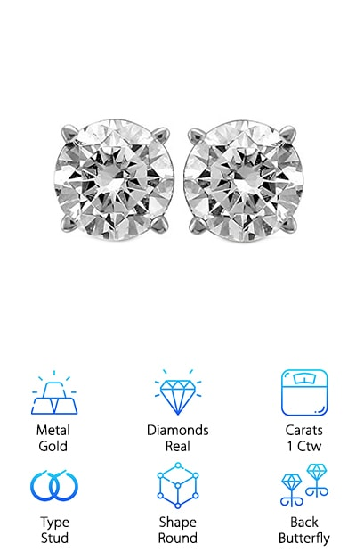 Diamond Jewel Stud Earrings