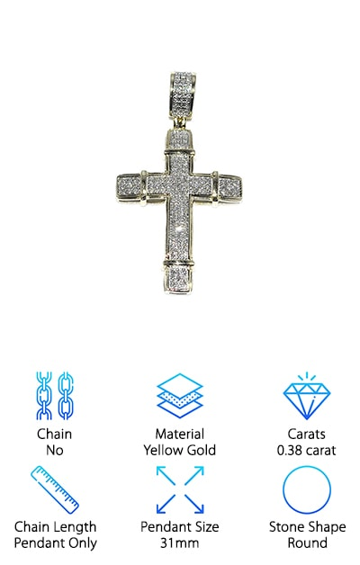 Midwest Jewelry Cross Necklace