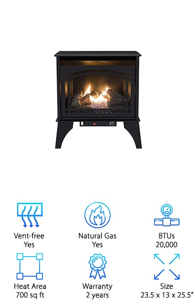 btu fireplace pd gas hearth free dual vent shop burner in pleasant logs