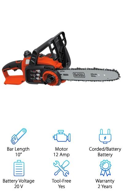 Electric chainsaw reviews top 10 picks blackdecker lcs1020 greentooth Images