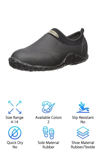 If you're more interested in a completely waterproof shoe, instead of one designed to allow water to flow freely through the sole, take a look at the MuckBoots Camp Shoe. Heavier and more rigid than other items on this list, this shoe is ideal for anyone looking to protect their feet from the elements at the cost of having to sacrifice comfort and breathability. One of the best walking shoes for men, they are meant for serious campers looking to protect themselves from the elements and can be worn in temperatures ranging from sub-freezing to 85 degrees Fahrenheit. However, in addition to being one of the best shoes for backpacking, they also suit casual wearers who prefer protection and comfort during outdoor activities like gardening or getting the mail. These shoes keep your feet dry and clean in the dirt and mud, though they can get waterlogged if submerged completely. As such, they are not meant for sport, but rather for protection from the elements.