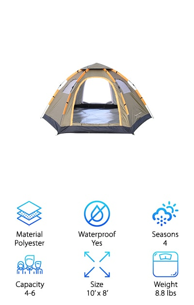 Wnnideo Instant Pop Up Tent