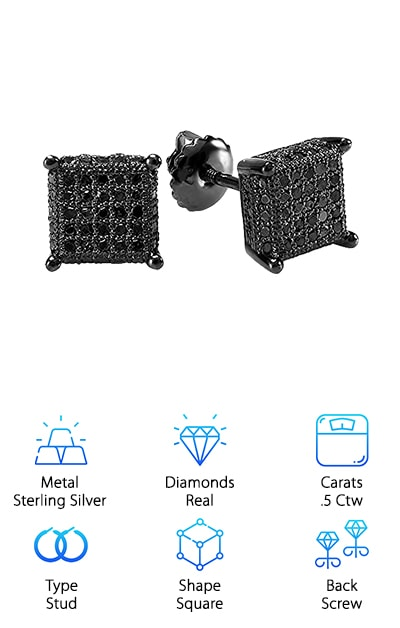 DazzlingRock Cube Earrings