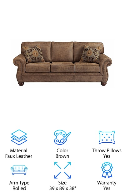 Ashley Furniture Traditional Sofa. Top Pick