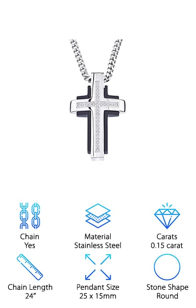Ax Jewelry Diamond Cross Pendant