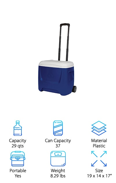 Igloo Island Breeze Roller Cooler