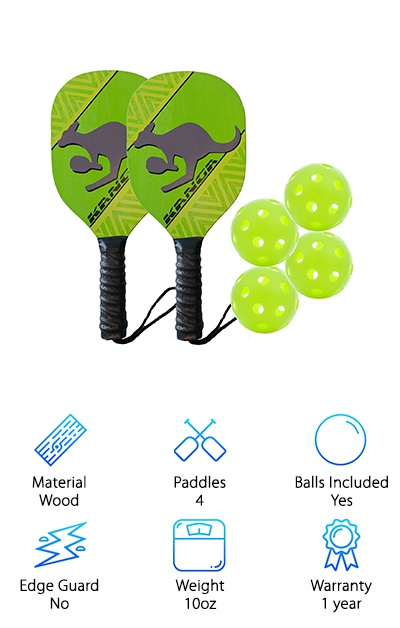 Kanga Wood Pickleball Paddle