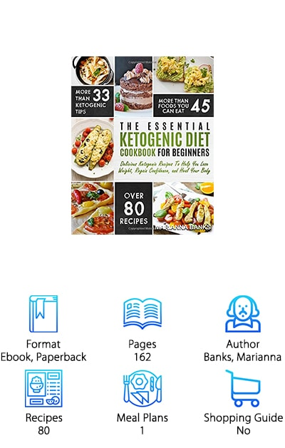 On your list of the best ketogenic diet cookbooks should definitely be The Essential Ketogenic Diet Cookbook for Beginners. Boasting 80 recipes, information on more than 45 foods you can eat, and 33 ketogenic tips, the data in this book can help you start your lifestyle change. Easy to read with a focus on the basics, this 162-page publication provides plenty of information on how the keto diet works, how to maintain it-- even when you're out to eat, and 80 recipes with a meal plan, to get you started on your journey. If eating delicious, whole food recipes sounds right for you, then don't miss out on Banks' great read. And it's available in ebook format or paperback, so you can take it with you wherever you go, for tips, reminders, and motivation!