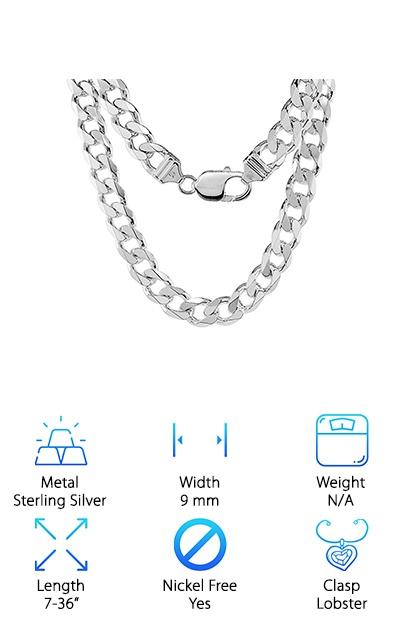 Sabrina Silver Cuban Link Chain