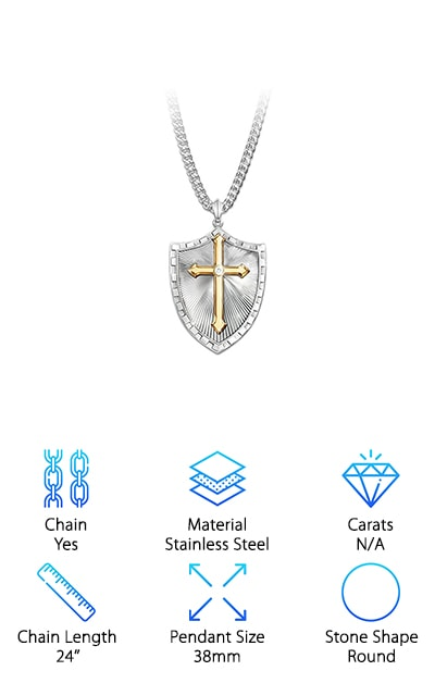 Bradford Exchange Shield Necklace