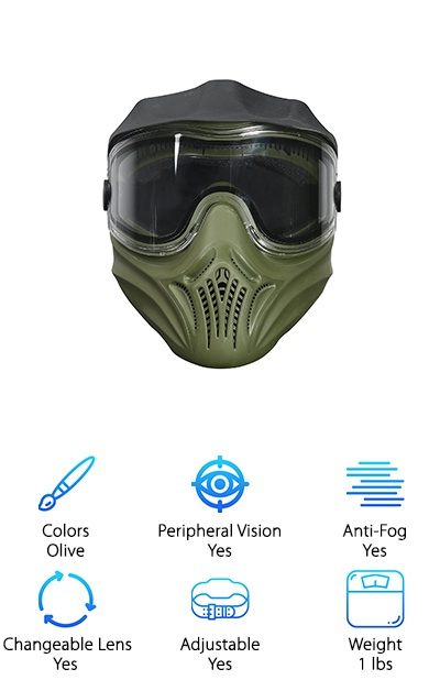 Invert Helix Thermal Paintball Mask