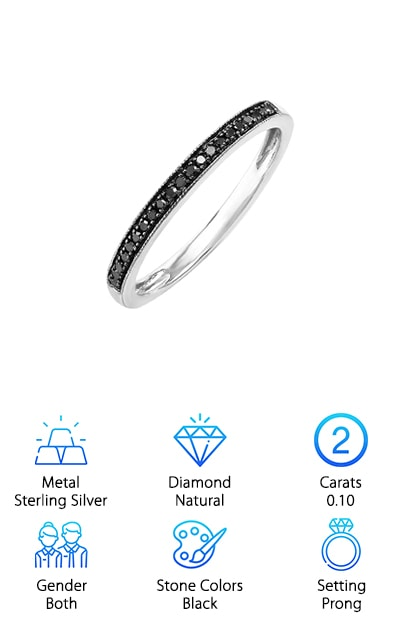 DazzlingRock Black Diamond Band