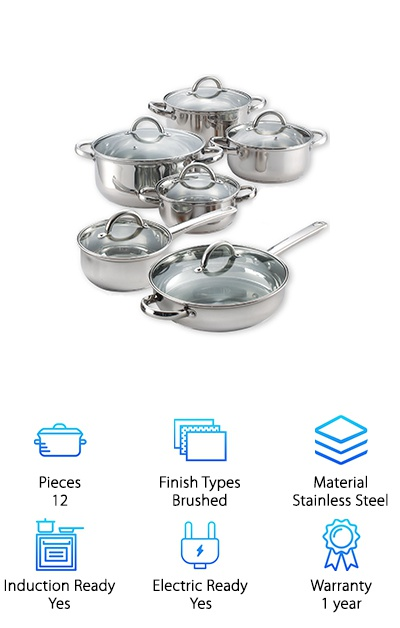 Cook N Home Stainless Steel Set