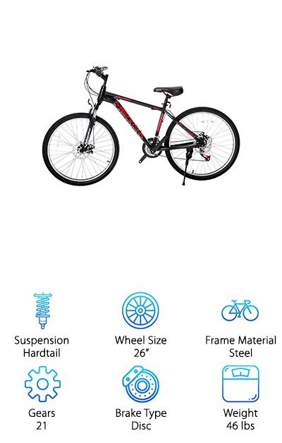 Merax Hardtail Mountain Bike
