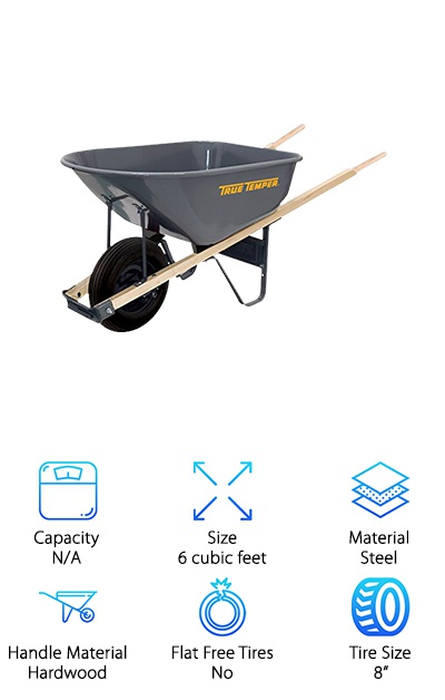 True Temper Steel Wheelbarrow