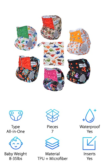 MoomooBaby All-in-One Diapers