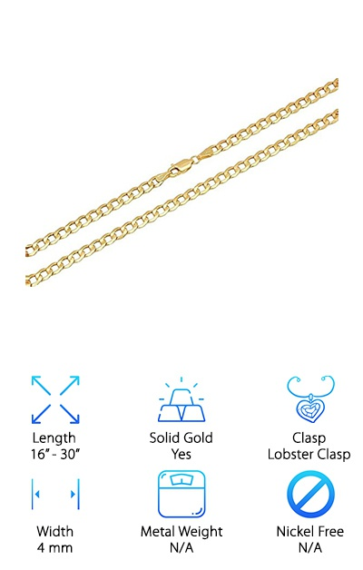 Paradise Jewelers 4mm Chain