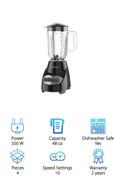 BLACK + DECKER Countertop Blender