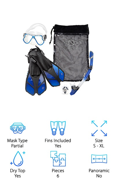 NAGA Sports Snorkel Set