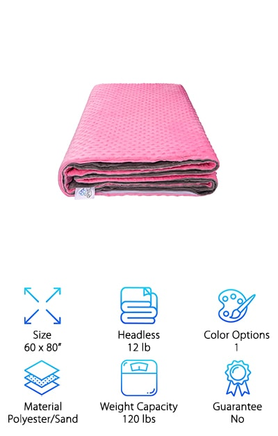 Instantly lower stress levels with the Snuzi Weighted Blanket. Perfect for anyone seeking deep relaxation or better sleep, this pink and gray blanket has all the right features to soothe and calm your body and mind. It works to stimulate pressure points throughout the body to effectively relax the wearer for a pleasant meditative or quiet experience or better sleep. Made from plush, minky fabric and equipped with sensory dots for added relief, it is filled with non-toxic, hypoallergenic sand pellets. The sand pellets feel more delicate than plastic pellets, adding to the safe and soothing feel of the blanket. The cover is easily washable, too, so it stays feeling and smelling fresh for the ultimate retreat out of the everyday stressors of life and into the world of a simulated hug. The Snuzi imitates the warmth and security of a hug, leaving you at ease and refreshed after a long day. This superstar blanket is the perfect way to wrap up our stellar list!