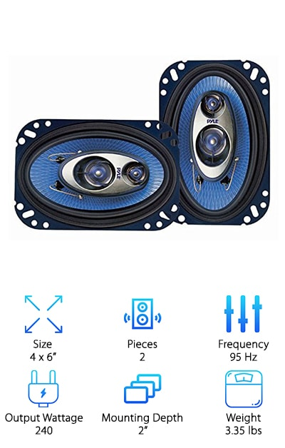 Pyle PL463BL 3-Way Speakers