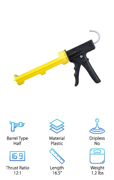 Dripless Inc. Caulk Gun