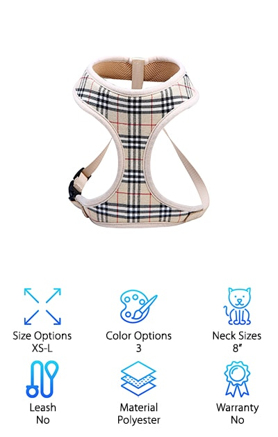 WZPB Soft Mesh Cat Harness