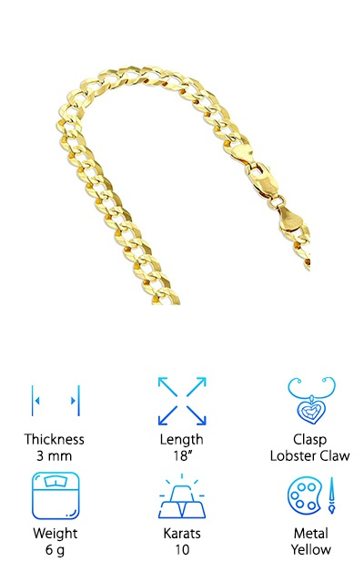IcedTime Solid 10K Gold Chain