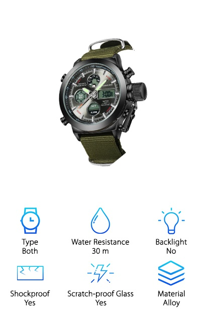 LYMFHCH Waterproof Military Watch