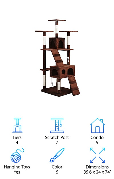 Yaheetech Cat Tree Kitten Scratcher