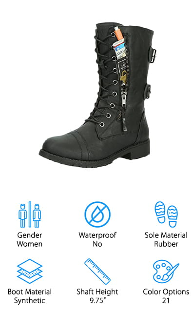 DailyShoes Military Combat Boots