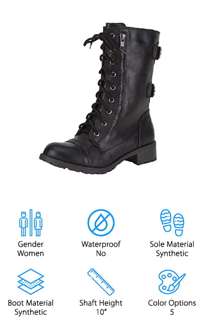 Soda Dome Combat Boots