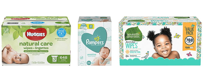 80 Wipes Pack of 12 Natural Value All Natural Soft /& Gentle Baby Wipes