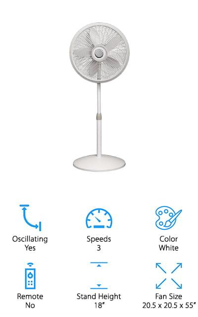 Lasko 1820 Pedestal Fan