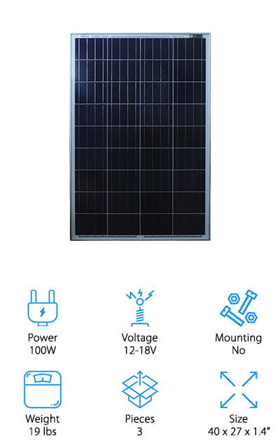 Mighty Max Battery Solar Panel