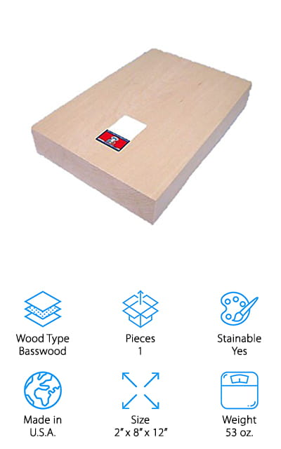 Midwest Products Basswood Block