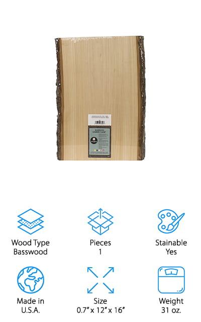Walnut Hollow Basswood Plank