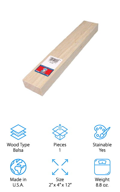 Midwest Products Co. Balsa Block