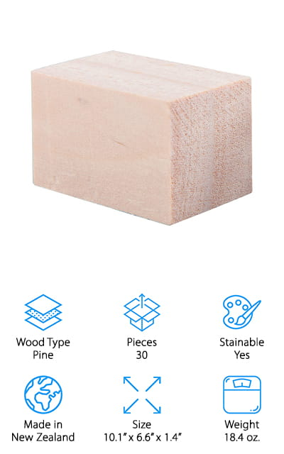 Tosnail Wood Carving Blocks